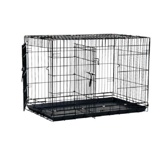 b d 39 z cage de m tal noir pour chien animobouffe. Black Bedroom Furniture Sets. Home Design Ideas