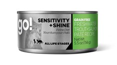 Go! Sensitivity+ Shine Conserve pour Chat - Pâté Truite et Saumon 5.5oz