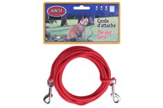 Laisse d'Attache en Nylon 1/8 Rouge pour Chat - Hunter