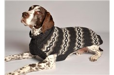 Chandail de Laine Nordic Diamond Gris pour Chien - Chilly Dog