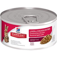 Science Diet - Conserve pour Chats Adultes Foie & Poulet
