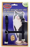 Harnais de Nylon Ajustable pour Chat Hunter Brand - Noir