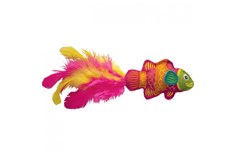 Peluche en Forme de Poisson Tropical Rose pour Chat - Kong