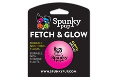 Balle Rose Flottante Fetch and Glow - Spunky Pup