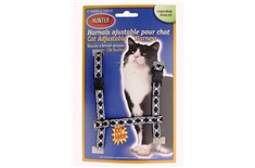 Harnais de Nylon Ajustable pour Chats Motifs de Losanges - Hunter Brand