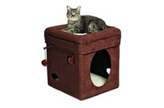 Cube pour Chat Curious Cat Brun - Feline Nuvo
