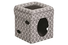 Cube pour Chat Curious Cat Gris - Feline Nuvo