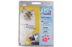 Protèges Griffes Rose pour Chat - Soft Claws