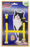 Harnais de Nylon Ajustable pour Chat Hunter Brand - Jaune