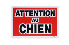 Pancarte '' Attention Au Chien''