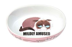 Bol en Céramique '' Mildly Amused '' Rose pour Chats - Petrageous